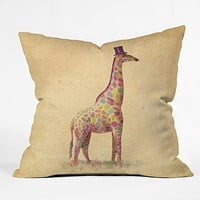 Terry Fan Fashionable Giraffe Throw Pillow
