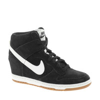 Nike Dunk Sky High Black Wedge Sneakers