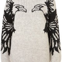 Knitted Mirror Eagle Jumper - New In This Week  - New In