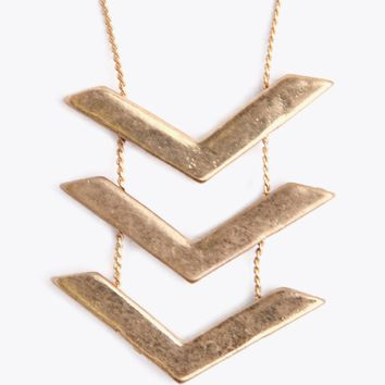 Chevron Pendant Necklace | Ruche