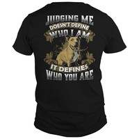 Pitbull Collection- Judging me doesnt define who i am - Men Short Sleeve T Shirt - SSID2016