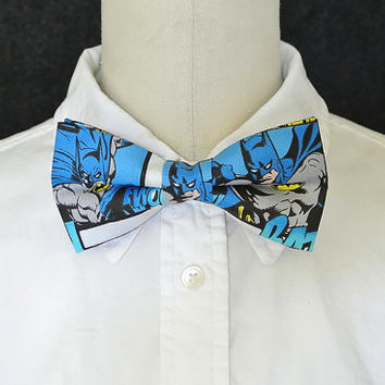 Batman Bow tie, Batman Hair Bow, Blue Bow, Batman Tie, Bow Tie, Comic Bow, Superhero Bowtie, Gotham, Hairbow, Mens Bow Tie, Hair Accessories