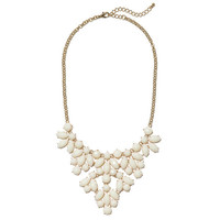 Cream Petals Bib | Jeweliq Statement Necklaces