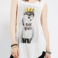 Urban Outfitters - Truly Madly Deeply F*ck Reality Muscle Tee