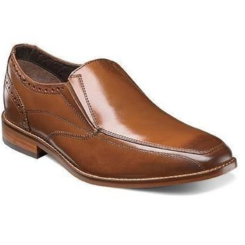 New Florsheim Men's Castellano Moc Toe Saddle Tan Slip-On Shoes