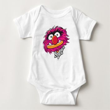 Animal With Collar Baby Bodysuit