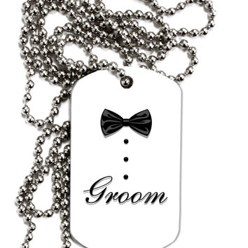 Tuxedo - Groom Adult Dog Tag Chain Necklace