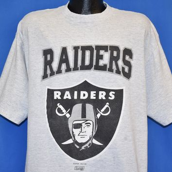 90s Oakland Raiders Logo NFL Football t-shirt Large