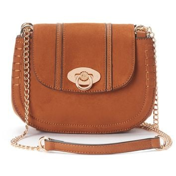 LC Lauren Conrad Macaron Stitched Saddle Bag