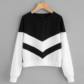 KPOP BTS Bangtan Boys Army FEITONG EU US  Chic 2018  Emojis New Women Girl Plus Size Sweatshirt Long Sleeve Crop Patchwork Suede Pullover Tops AT_89_10