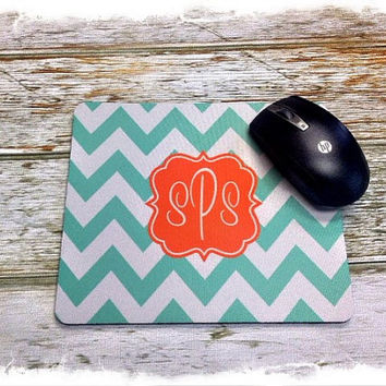 Personalized / Monogrammed Square Mouse Pad, Computer Mouse Pad, Custom Mouse Pad