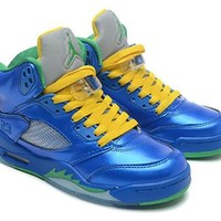 Cheap Air Jordan 5 Men Shoes Steel Seal Deep Blue