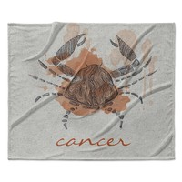 "Belinda Gillies ""Cancer"" Fleece Throw  Blanket"