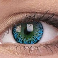Elegance Aqua Colour Contact Lenses | EyesBright.com