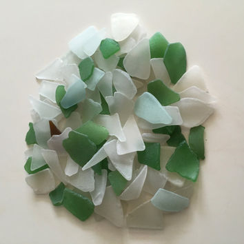 Green Sea Glass / Brown Sea Glass/ Long Beach Glass/ Craft Supplies/ Sea Glass Jewelry art/ Mosaic Crafts/ Bulk Beach Glass/ Mix Beach Glass