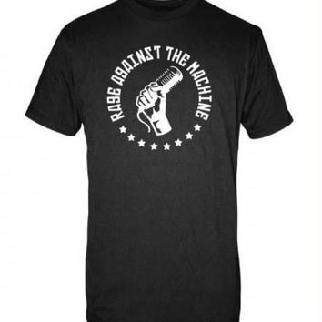 Rage Against the Machine Microphone Slim Fit T-Shirt - Black - Large