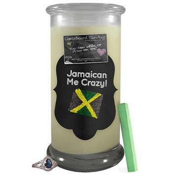 Jamaican Me Crazy!   Chalkboard Candle