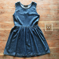 An Acid Wash Denim Dress