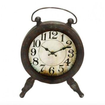 Vintage Metal Table Clock