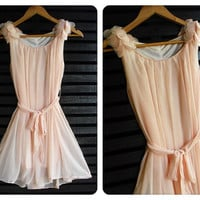 Flying Cutie Freshly Dress Light Pink by LovelyMelodyClothing