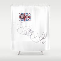 UK Tape Shower Curtain by Matt Irving
