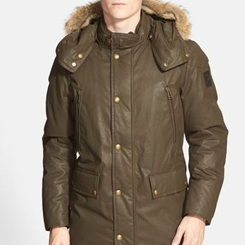 Men's Belstaff 'Bainbridge' Down Parka with Genuine Coyote Fur Trim,