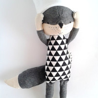 THEO the fox. made-to-order. eco kids. wool fox. eco fox. gift for children. stuffed fox. eco toy. toy fox. kids room decorative fox.