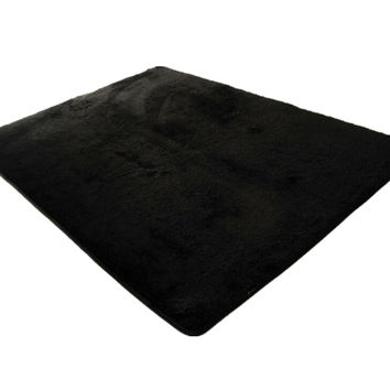 Soft Fluffy Anti-skid Floor Mat Plush Home Shaggy Area Rug Carpet  Yoga Bedroom Kid Playing Room Floor Cover