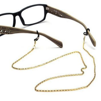 Sunglasses Lanyard Strap Necklace Metal Eyeglass Glasses Chain Cord