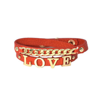 Red Love Chain Wrap