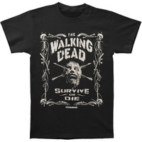 Walking Dead Men's  Survive Or Die T-shirt Black Rockabilia