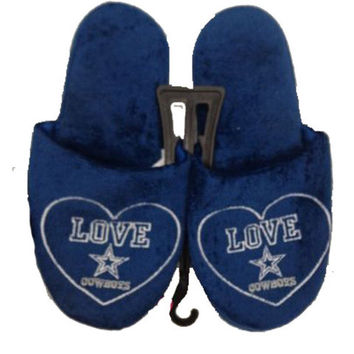 Dallas Cowboys Official NFL Women's Love Slipper