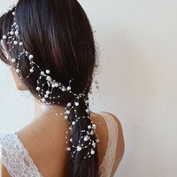 Pearl  headband, Wedding Pearl  headband, Bridal Hair Accessories, Wedding Hair Accessories