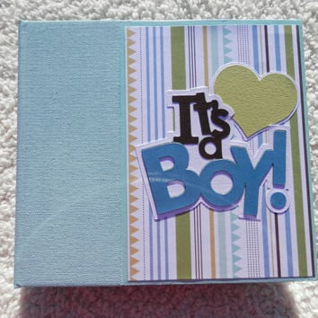 6x6 Its a Boy Baby Scrapbook Album