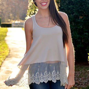 Extender cami, taupe