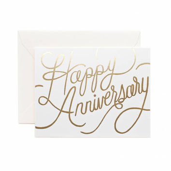 RIFLE PAPER HAPPY ANNIVERSARY WEDDING GREETING CARD