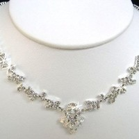 Crystal Necklace Set for Bridal Wedding Prom Pageant N1X17
