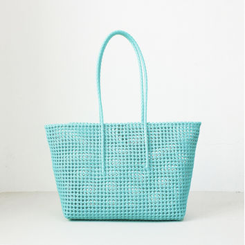 UNDER THE SEA MUDICHU HANDWOVEN TOTE
