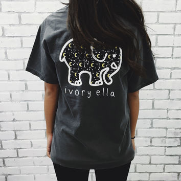 Pepper Moon & Stars Print Short Sleeve