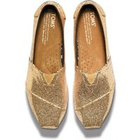 TOMS Women's Glitter Classic Slip-On Shoe