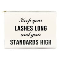 Long Lashes and High Standards - Makeup Pouch