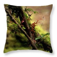 """Branches Throw Pillow 14"""" x 14"""""""