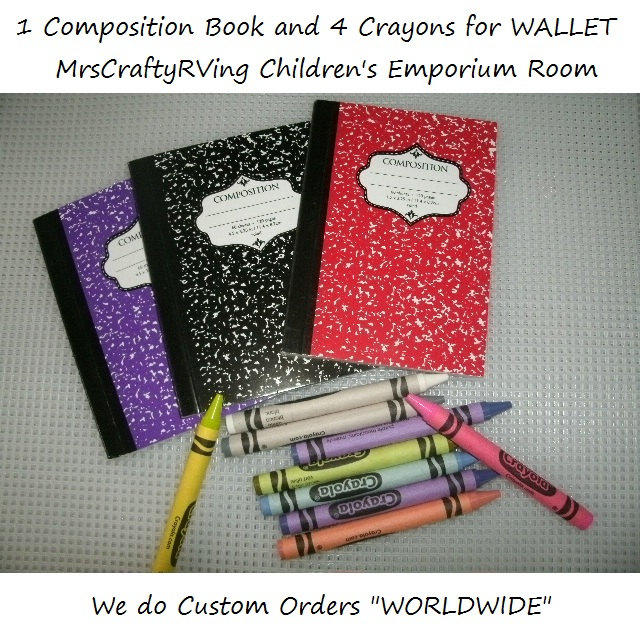 Composition Book And Crayola Crayons For From