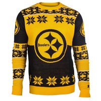 Pittsburgh Steelers Forever Collectibles KLEW Big Logo Ugly Sweater Sizes S-XXL w/ Priority Shipping