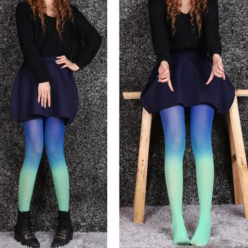 Fashion Womens Gradient Pantyhose Velvet Stockings Tights
