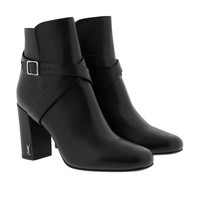 Saint Laurent Babies 90 Jodhpur Boots Calfskin Black Boots & Booties at Fashionette