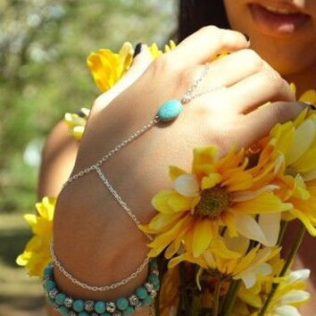 Shiny Gift Hot Sale New Arrival Great Deal Stylish Awesome Accessory Turquoise Chain Bracelet [6464821569]