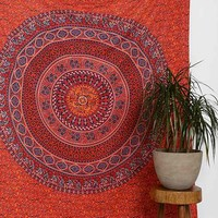 Magical Thinking Red Medallion Tapestry-