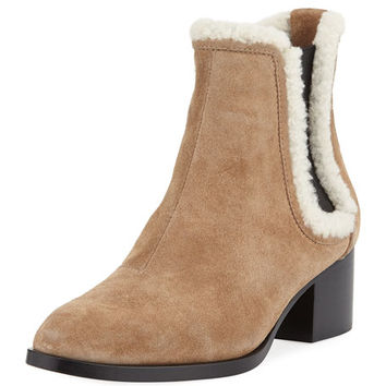 Rag & Bone Walker Fur-Trim Suede Boot