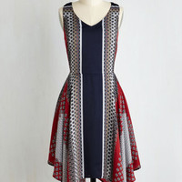 Boho Long Short Sleeves A-line The Sway Things Are Dress